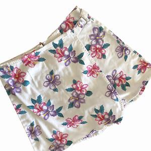 Vintage 80s SOSTANZA Skorts Size 8  Shorts Skirt High Waisted White Floral
