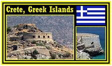 CRETE, GREEK ISLANDS, GREECE - SOUVENIR NOVELTY FRIDGE MAGNET - NEW - GIFT