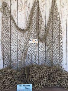 Authentic Used Fishing Net 5'x10' - Fish Netting - Old Vintage Nautical Decor