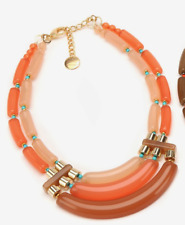 New PONO by Joan Goodman $265 Blush Resin Metallic Bead Cleo Necklace Tri-Color