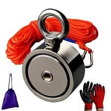 Strong two sied Neodymium Fishing Magnet Kit Rope Metal detecting 530-660lbs