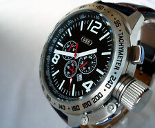 Audi Sport Motorsport Racing Pilot Submarine U Boat Big Design Watch Chronograph