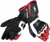 MV AGUSTA Professional Motorbike Racing Leather Gloves Moto Gp Pro