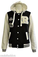 Kids Girls Boys Unisex R Baseball Jacket Varsity with Neon Pink Sleeves 3-13Yrs