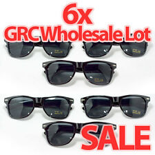 6 Pairs - Wholesale - BLACK SUPER DARK LARGE Sunglasses lens new Men & Women