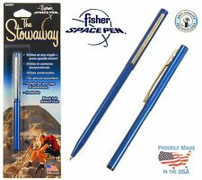 Fisher Space Pen #SWY/C / Blue Stowaway Pen with Clip