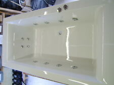 CUBE Whirlpool Bath 8+8  Jet Chrome  1800 x 800 Bath