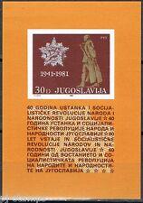 Joegoslavië 1981 blok 19 40-ste verjaardag opstand tegen bezetting MNH