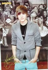 """JUSTIN BIEBER """"STANDING IN FRONT OF HIS FANS"""" ASIAN MUSIC POSTER"""