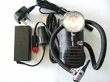 12V Air Compressor (Tyre Inflator) and mains power supply converter