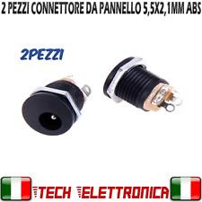 2 Pezzi Connettore da pannello plastica 5,5 x 2,1mm femmina