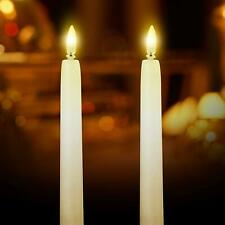 More details for led flameless taper flickering battery operated candles lights xmas party decor