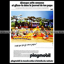 PLAYMOBIL Le Train & Jardin d'enfants 1981 Pub Original Advert Ad #A1122