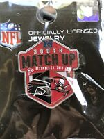 New & Sealed NFL Tampa Bay Buccaneers South Match Up Game Day Pin WinCraft