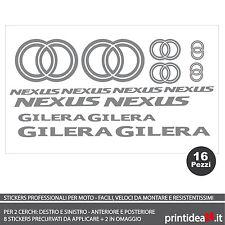FOGLIO ADESIVO SCOOTER GILERA NEXUS 125/300/500 STICKERS ADESIVI ARGENTO