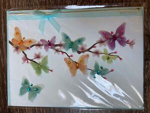 Papyrus Blank Card - 3D Butterflies