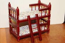 DOLLS HOUSE ( Mahogany  Bunk Beds ( makes into 2 singles