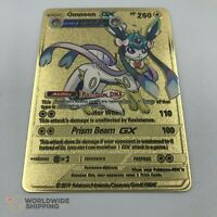 Carte Pokemon Metal Gold / Omneon / GX Card Fan Made Eevee Evolution - Evoli