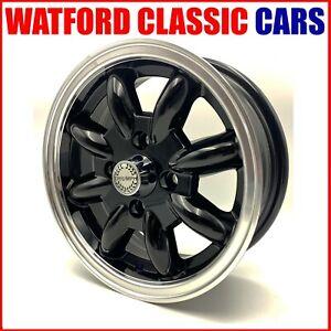 4 X Black Minilight alloy wheels Suitable Triumph Spitfire GT6 ,Herald & TR7