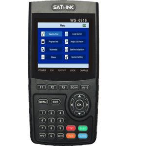SATLINK WS-6916 DVB-S/S2 HD Satellite Finder Meter with MPEG-2/MPEG-4, QPSK,8PSK
