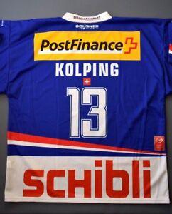 Kolping EHC Kloten Switzerland Jersey XL Shirt Swiss Hockey Mens ig93