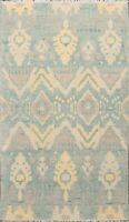 Geometric Chevron Moroccan Oriental Area Rug Decorative Hand-Knotted Wool 5x8 ft
