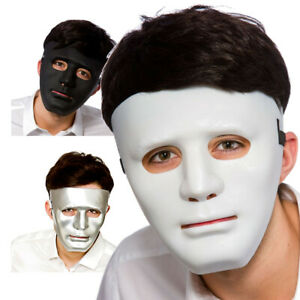 Robot Mask Deluxe Black White Silver Adult Mens Fancy Dress Accessory Halloween