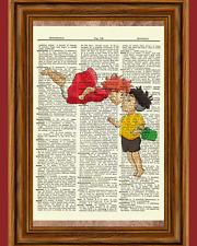 Ghibli Tribute Spirited Away Dictionary Art Print Howl's Kiki Ponyo Totoro Gift