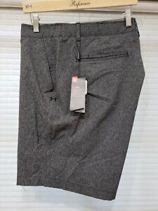 Under Armour Men's UA HeatGear Dark Grey Golf Shorts 1291351-001 Size 38