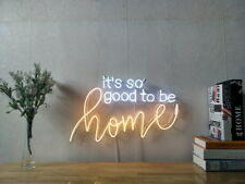 New It Is So Good To Be Home Neon Sign For Bedroom Wall Home Artwork With Dimmer