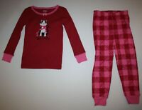 NEW Gymboree Girls Red Holiday Pajamas Gymmies PJs 3 4 5 6 8 So Cozy Kitty Cat