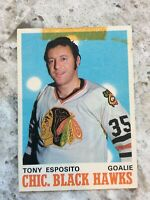 1970-71 OPC O PEE CHEE # 153 Tony Esposito 2ND SECOND YEAR  BLACK HAWKS Ref 1
