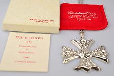 VTG REED & BARTON STERLING SILVER 1975 CHRISTMAS CROSS ORNAMENT ORIG POUCH & BOX