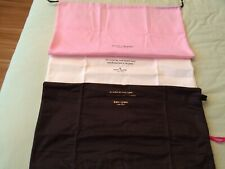 Kate Spade Auth Dust Protect Bags for Handbag Cream Pink Brown Differ Sizes NEW