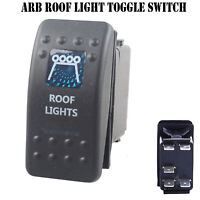12V 20A Bar ARB Carling Rocker Toggle Switch Blue LED Car Boat Roof Light LF
