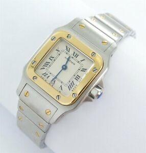 Cartier Santos Galbee Lady Uhr Stahl/Gold Papiere Ref.1057930