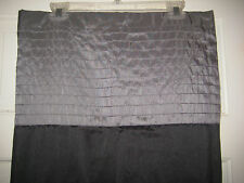 Victoria Classics Shower Curtain Black Pewter Beige Polyester 70x72 New