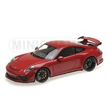 Porsche 911 Gt3 2017 Red With Black Wheels MINICHAMPS 110067020
