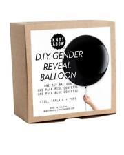 Gender Reveal Balloon Kit Pink Blue Confetti Bonus: Extra Ribbons Bows Party