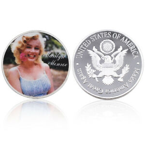 Home Decorative Souvenir Gifts Marilyn Monroe American Movie Star Challenge Coin