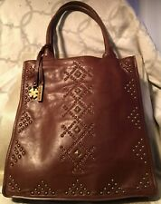 Lucky Brand Studied Brown Leather Tote RN100583