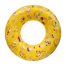 Inflatable Emojis Swim Ring Beach Lake River Pool Float Donuts Ring 30 Inch