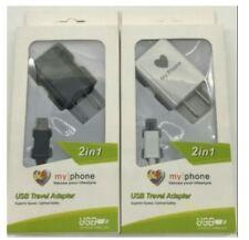 My Phone USB Travel Adaptor Charger - BLACK