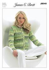 James C Brett Ladies Cardi Marble DK Yarn Knitting Pattern JB040