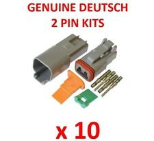 10 x DEUTSCH 2 Pin Connector Kits With Terminals Male Female Plugs Waterproof