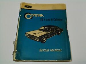 Factory Ford Cortina TD 4 and 6 Cylinder Repair Manual W.M. 115