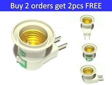2PCS E27 Screw Socket Plug Switch Bulb Lamp Base Holder Plug Adapter