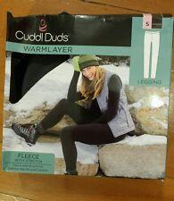 NIB Womens Cuddl Duds Shadow Fleece Stretch Warm Layer Leggings Size Medium M