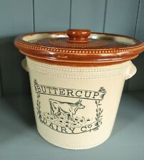 More details for antique scottish stoneware buttercup dairy butter crock