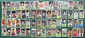 Lot of 60+ Barratt Football Candy Sticks Cards from 3 Different Incomplete Sets